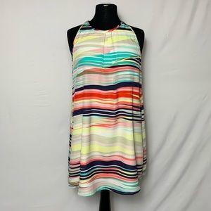Speechless Multicolor Tunic Dress XS